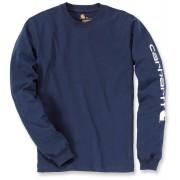 Carhartt Logo Camisa de manga larga Azul Oscuro XXL