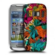 Nokia C7, 701 CHRYSANTHEMUM Flowers Твърд Капак + Протектор