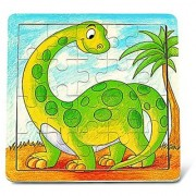 Puzzled Wooden Dinosaur Jigsaw Puzzle (20 Piece)