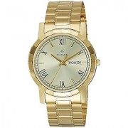 Titan Gold Dial Analogue Watch for Men (1644YM03)
