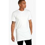 Tricou barbati lung casual yoozze slimfit culoare alb XL