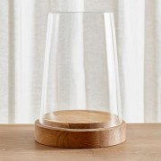 "Ellery Hurricane 13.5"""" Oak Candle Holder"