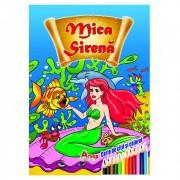 Carte de citit si colorat, Mica Sirena