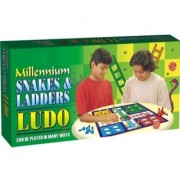 Tingoking Learning and Educational 0821 Millennium Ludo Snakes and Ladders