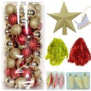 Set 126 Ornamente Brad: Pachet Standard