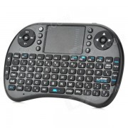 2.4GHz Teclado Wireless iPazzPort 92-Key para Google TV Player - Negro