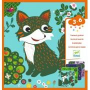 Set creativ de răzuit Djeco, Animale prietenoase