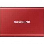 Samsung T7 500GB USB 3.2 külsõ SSD meghajtó - piros
