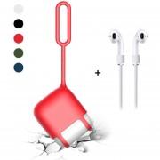 Caída De La Piel Resistente A Los Arañazos Para Apple Airpods, Rojo