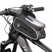 "WHEEL UP 020-5 Cycling Bag Highly Waterproof Saddle Bag Touch Screen 6.5"" Phone Pouch Case Holder"