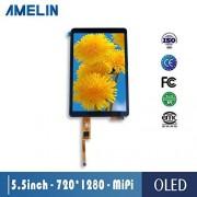 AMELIN 5,5 Pulgadas OLED SH1386 IC 720x1280 LCD módulo con visualización de Interfaz MIPI y visualización táctil capacitiva