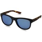 Arnette AN4222 Class Act anteojos de sol redondas para hombre, Espejo negro y azul., 54 mm