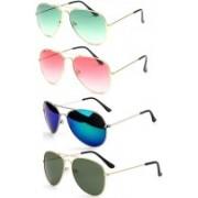 SRPM Wayfarer Sunglasses(Green, Pink, Blue, Green)