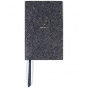 "Smythson Panama Notebook Navy ""Make it Happen"""