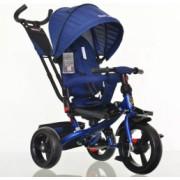 Tricicleta cu scaun reversibil Still 6-36 luni cu pozitie de somn roata plina Albastru