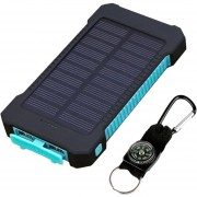 EY 20000MAH Dual USB Solar Power Bank Waterproof Shockproof External Battery Charger With Compass For Smartphones