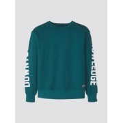 TOM TAILOR Sweatshirt met tekstuele print, deep teal green, 176
