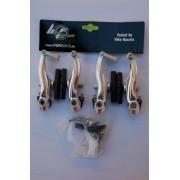 Frana V-brake fata-spate 95 mm argintiu