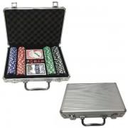 Poker Set in Aluminium Koffer
