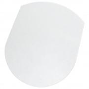 ハードフロア用チェアマット W990×D1250×H3mm チェアアクセサリー チェア周辺備品 透明 PVC製 ヨーロピアンデザイン オフィス家具