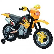 Happy Rider/Fun Wheels 6-volt Battery Operated Ride On Dirt Bike, Yellow(Discontinued by manufacturer)