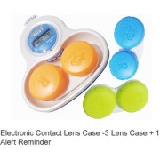 mini contact lens case Plastic travEl case holder storage box for contact Lens Case container Reminder timer3 lens case