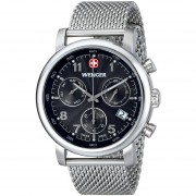 Wenger 01.1043.102 Men's Urban Classic Chrono Black Dial Watch