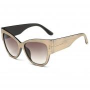 ER Gafas De Sol Femeninas De Gradiente De Alta Moda Cateye Diseño Individual -Champagne