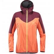 Haglofs L.I.M Comp Jacket Women - Coral Pink/Aubergine - Vestes de Pluie L