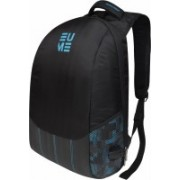 EUME Wave Massager 26 Ltr Laptop Backpack For 15.6 inch Laptop and Nylon Water Resistance Backpack With 2 USB Charging Port- Light Blue and Black 26 L Laptop Backpack(Blue)