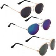 Phenomenal Oval Sunglasses(Black, Green, Blue)