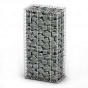 vidaXL Gabion Basket Wall with Lids Galvanized Wire 100 x 50 30 cm