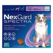 Nexgard Spectra Tab Large Dog 33-66 Lbs Purple 6 Pack