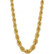 Xoonic's New Design Statement Gold plated Rope Chain 3mm thick / 20 inch long Rope chain