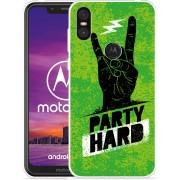 Motorola One Hoesje Party Hard 3.0
