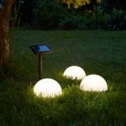 Luxform Lămpi solare podea grădină LED Clervaux 3 buc, semi-glob 40300