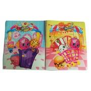 Shopkins Set of 2 Poly Folders ~ Once You Shop… You Can't Stop (I Heart SPK, Shop 'Til We Pop; Two Pocket Folders...