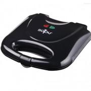Тостер за сандвичи с мраморно покритие SAPIR SP 1442 AFM, 800 W, Триъгълни плочи, Черен