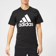 adidas Men's Must Haves BOS Short Sleeve T-Shirt - Black - XL - Black