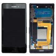 Ecrã LCD e Estrutura para a Parte da Frente do Sony Xperia M4 Aqua Dual - Preto