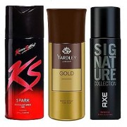 Yardly And Ks Kamasutra And Axe Signature Deo Body Spray For Men - 150 ml