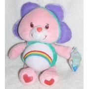"2005 Care Bears Special Edition Natural Wonders 8"" Plush Cheer Bear As Flower Bean Bag Doll"