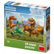 Puzzle de podea Dinozauri, 24 piese, 2-5 ani