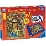 Puzzle librarie bizara, 1000 piese + suport pentru rulat Ravensburger