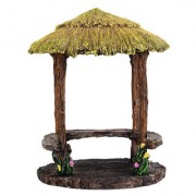 Wonderlnad Miniature fairy garden Thatch Gazebo(11 x 11 x 14 cm)