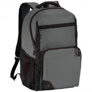 Rucsac Laptop, Everestus, RH, 15.6 inch, 600D poliester, gri, saculet de calatorie si eticheta bagaj incluse