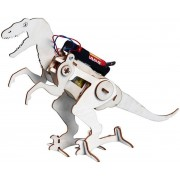 Kids creatief onderwijs hout wetenschap speelgoed kruipend dinosaurus gemonteerd model Lego Technic Style