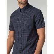Ben Sherman Main Line Short Sleeve Core Gingham Shirt Med Phantom