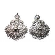 Goelx Antique Silver Designer Lord Pendant for Necklace Making, Pack of 2 - Design 14