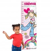 Personalised Height Chart - Bang On The Door Groovy Chick